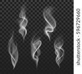 abstract transparent smoke hot... | Shutterstock .eps vector #596729660