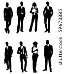 business people   Shutterstock .eps vector #59673385