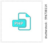 php outline vector icon with...