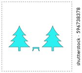 camping  outline vector icon...