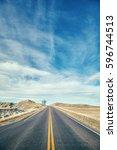 color toned scenic highway ...   Shutterstock . vector #596744513