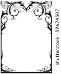 fantasy frame with space for... | Shutterstock .eps vector #59674507