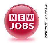 new jobs icon. internet button...   Shutterstock . vector #596746160