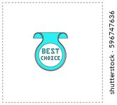 best choice outline vector icon ...
