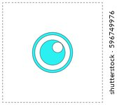 pupil outline vector icon with...