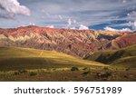 hornocal  mountain of fourteen... | Shutterstock . vector #596751989