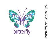 vector butterfly logo | Shutterstock .eps vector #596753393