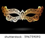 illustration with venetian... | Shutterstock .eps vector #596759093