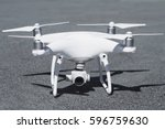 drone with camera close up on... | Shutterstock . vector #596759630