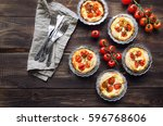 fresh homemade tarts with... | Shutterstock . vector #596768606