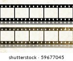 blank new and old shabby film... | Shutterstock . vector #59677045