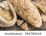 Small photo of Wholegrain Bread from Whole Wheat, Rye and Flax Seeds, Wheat and Whole Wheat Biscuits.