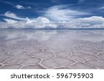 uyuni saline  salar de uyuni  ... | Shutterstock . vector #596795903