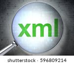 software concept  magnifying... | Shutterstock . vector #596809214