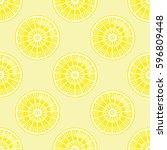 lemon pattern. | Shutterstock .eps vector #596809448