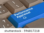 keyboard with key for... | Shutterstock . vector #596817218