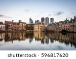 binnenhof  dutch parliament  ... | Shutterstock . vector #596817620