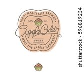 cider logo and label. retro... | Shutterstock .eps vector #596819234