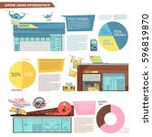 flat infographics with... | Shutterstock .eps vector #596819870