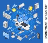 iot internet of things... | Shutterstock .eps vector #596821589