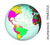 globe | Shutterstock . vector #59682313