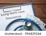 text long term care insurance... | Shutterstock . vector #596829266