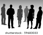 vector drawing silhouettes of... | Shutterstock .eps vector #59683033