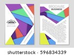 abstract vector layout... | Shutterstock .eps vector #596834339