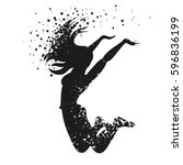 sport fitness typographic... | Shutterstock .eps vector #596836199