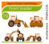 agricultural machinery  front... | Shutterstock .eps vector #596841236