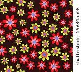 floral pattern 2 | Shutterstock .eps vector #596845508