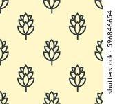hop beer seamless pattern... | Shutterstock .eps vector #596846654
