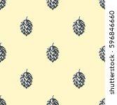 hop beer seamless pattern... | Shutterstock .eps vector #596846660