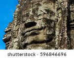wat bayon temple face   Shutterstock . vector #596846696