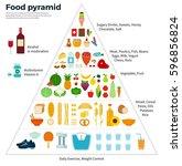 healthy eating concept. food... | Shutterstock . vector #596856824