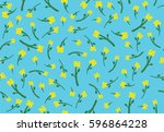 flowers vector pattern with...   Shutterstock .eps vector #596864228
