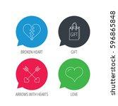 colored speech bubbles. love... | Shutterstock . vector #596865848