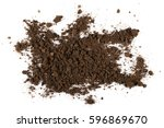 pile of soil isolated on white... | Shutterstock . vector #596869670
