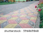 Pavers Colored Inserted On The...