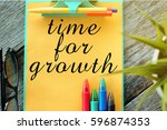 business concept  time for... | Shutterstock . vector #596874353