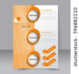 business brochure template.... | Shutterstock .eps vector #596882210