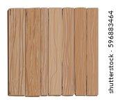 wooden board  cartoon blank...   Shutterstock .eps vector #596883464