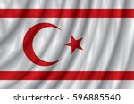 northern cyprus flag vector... | Shutterstock .eps vector #596885540