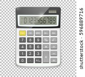 vector realistic calculator... | Shutterstock .eps vector #596889716