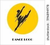 vector logo dance | Shutterstock .eps vector #596894978