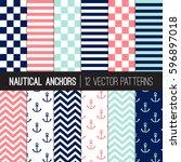Girly Nautical Patterns In Nav...