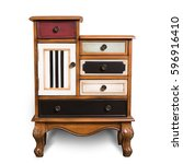 chest of drawers  wooden chest... | Shutterstock . vector #596916410