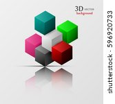 3d vector  colorful and... | Shutterstock .eps vector #596920733