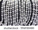 necklace  bracelet silver... | Shutterstock . vector #596930480