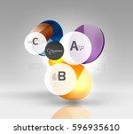 vector circle infographics.... | Shutterstock .eps vector #596935610